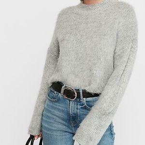 Express fuzzy mock neck sweater